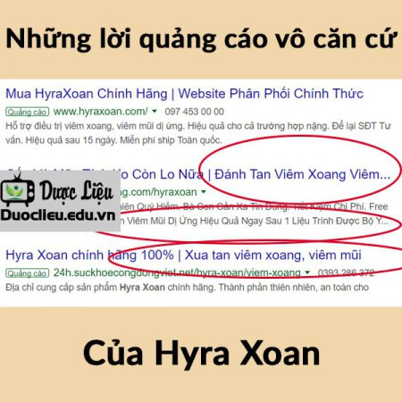 Hyra Xoan quảng cáo lừa đảo