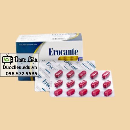Viên uống mọc tóc Erocante được bán ở nhiều nơi