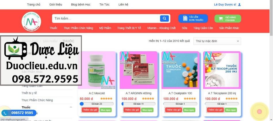 Nhà thuốc Ngọc Anh - nơi phân phối đa dạng các loại thuốc